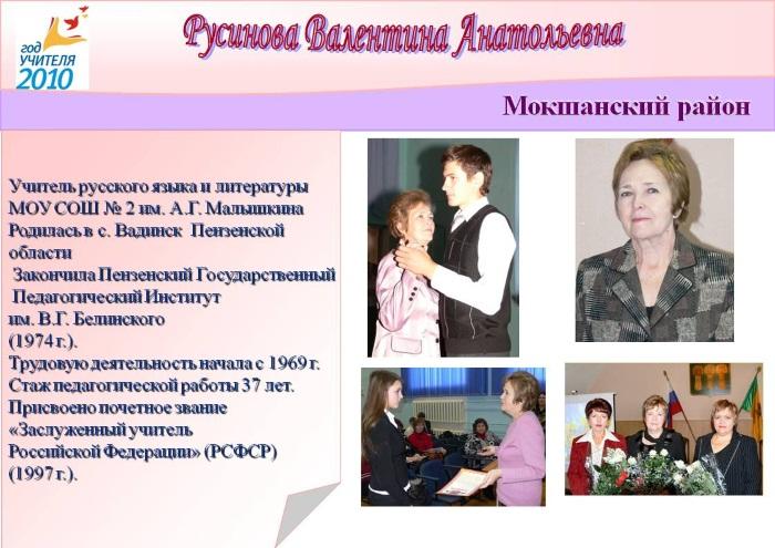 Русинова Валентина Анатольевна